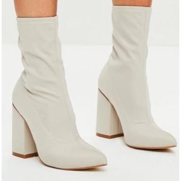 Block Heel Sock Boots | Poshmark